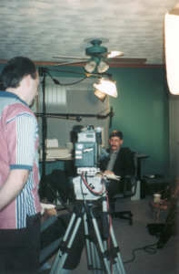 "Filming / Interview in my office for A&E (Arts&Entertainment) TV's Series ""The Unexplained"" Episode ""Disappearances"", March, 1998"