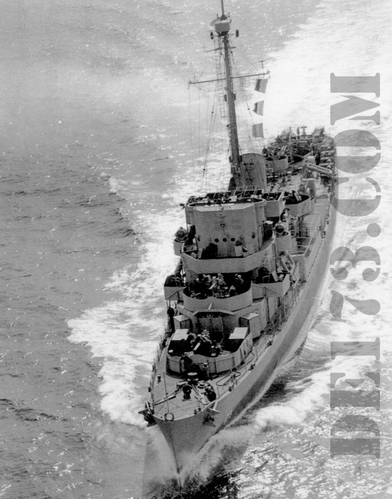 USS Eldridge 1944 Apr 25th (National Archives)