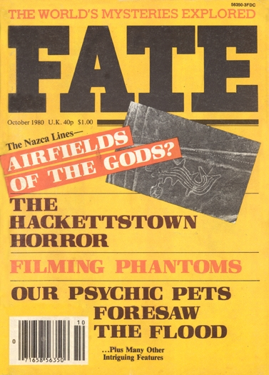 Fate Magazine October, 1980 Issue Cover