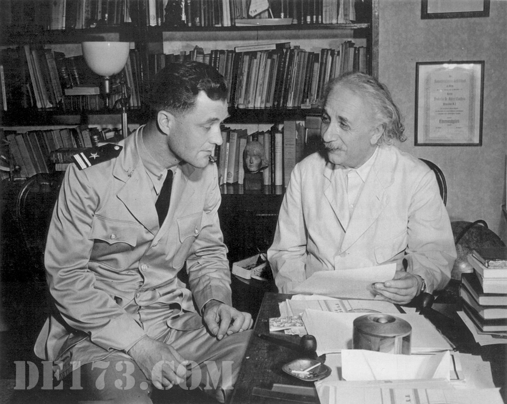 Einstein Meeting With The Navy, 1943