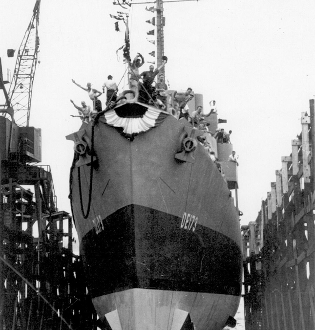 USS Eldridge DE-173 Launched