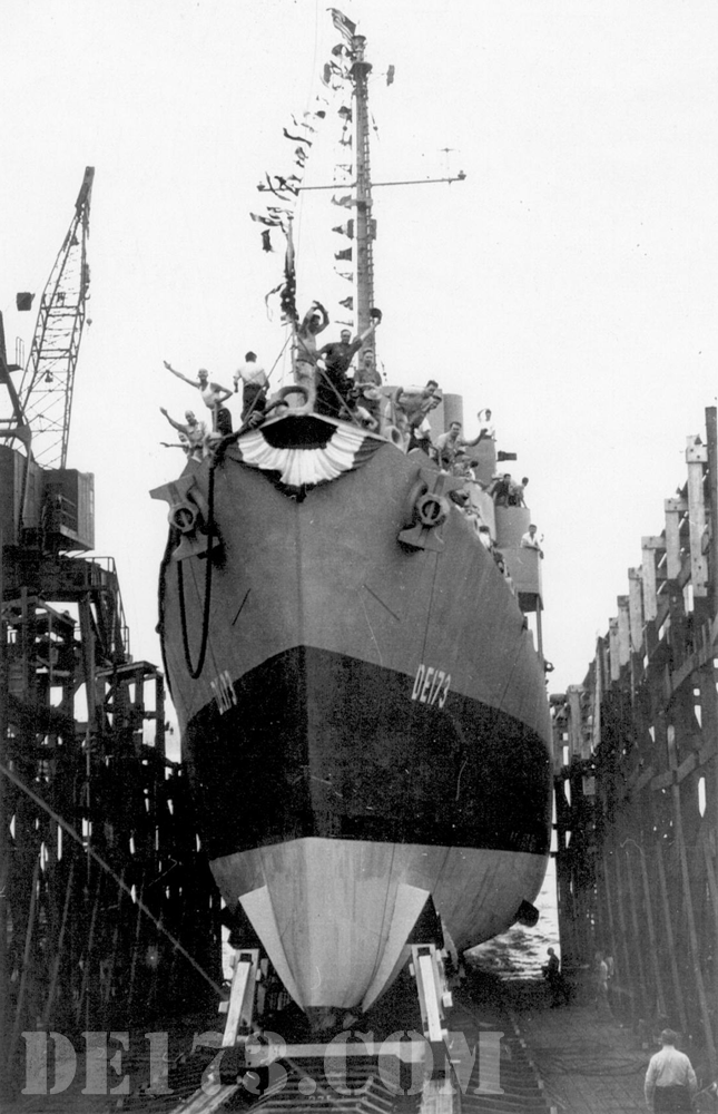 1943, Jul 25th, USS Eldridge Launched from the Federal Shipbuilding & D.D. Co. in Newark, N.J.