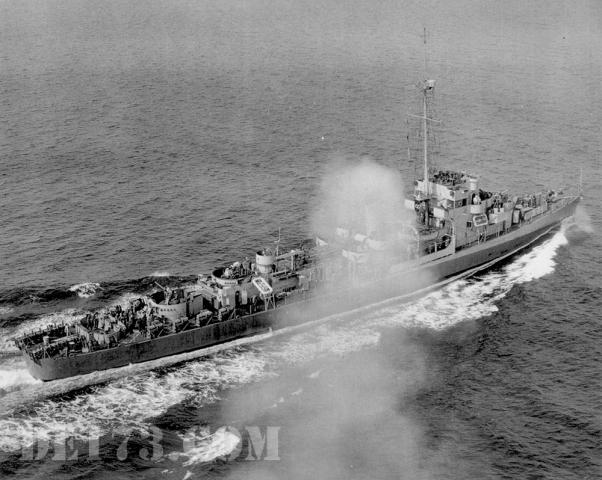 USS Eldridge, 1944, Apr 25th