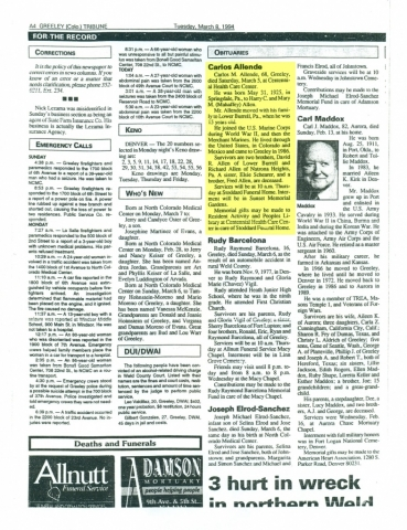 (RG) March-8, 1994 Obituary for Carlos Allende
