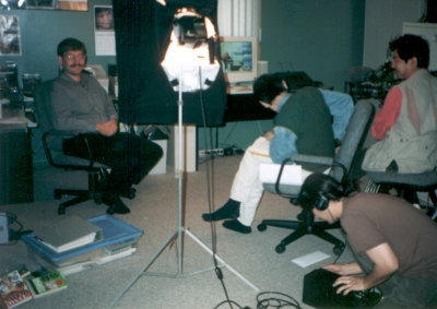 Filming / Interview in my office for TopSpin Creative Corp of Japan, Oct 1998