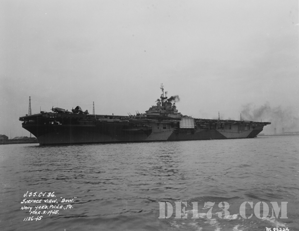 USS Antietam (CV-36), March 2nd, 1945, Philadelphia Navy Yard
