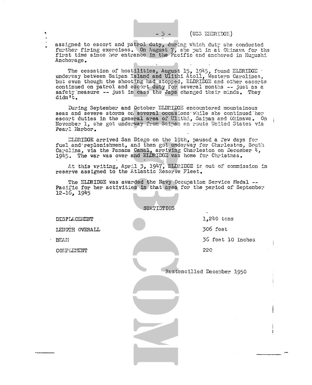 USS Eldridge Microfilm Page 003 - History