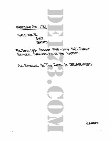 USS Eldridge Microfilm Intro