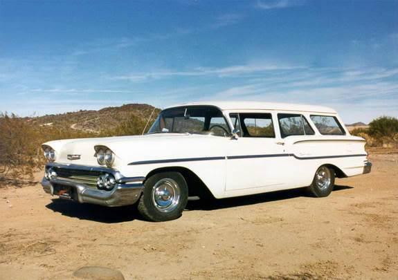 1958 Chevy Station Wagon White