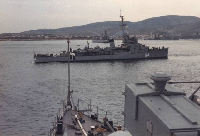 Eldridge Serving in the Greek Navy as the HNS Leon D54, 1980's