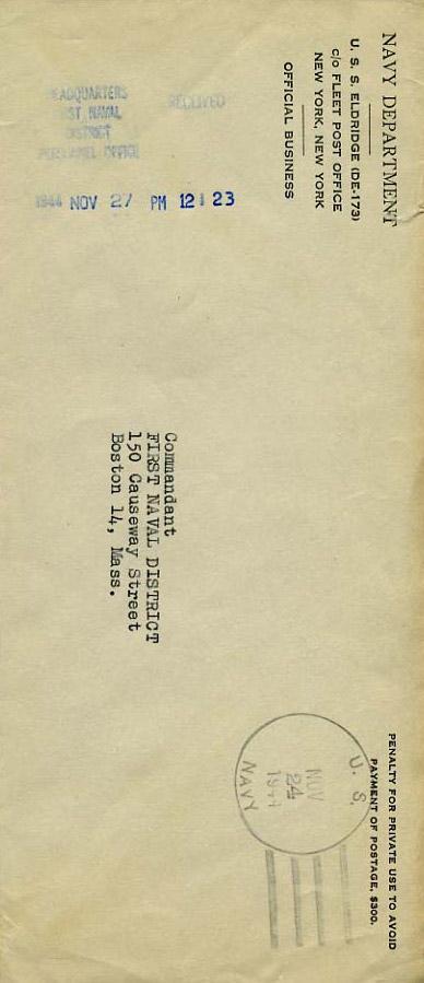 Eldridge Official Business Envelope