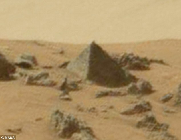 NASA Photo Pyramids on Mars or a Rock?