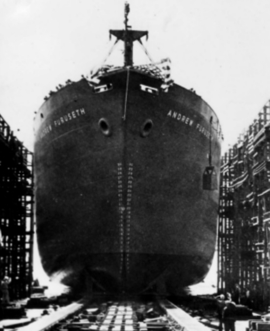 S.S. Andrew Furuseth, 1942, Oct; Carl Allen states that he witnessed the strange experiment conducted on the Eldridge from the deck of the S.S. Andrew Furuseth