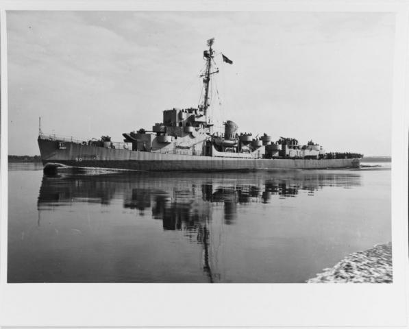 USS Engstrom (DE-50) Off The Philadelphia Navy Yard 2 July 1943