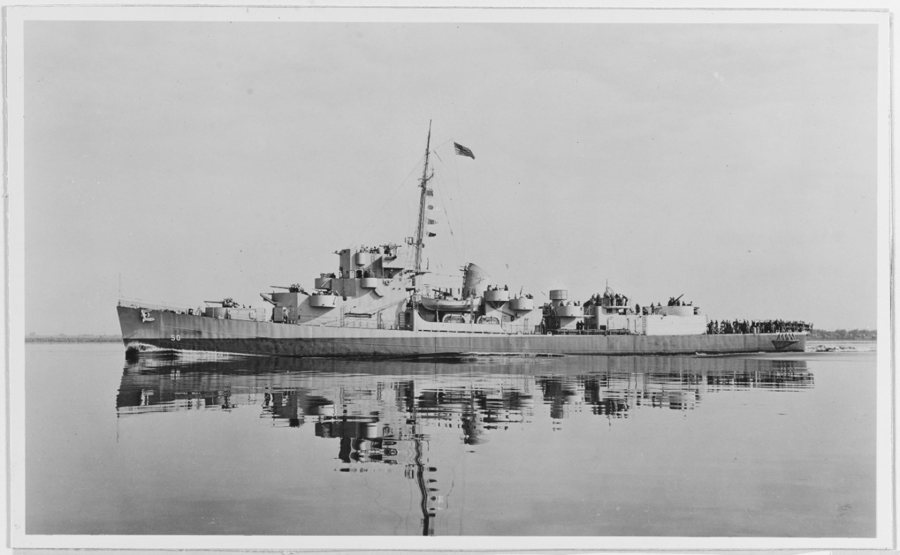 USS Engstrom (DE-50) Off The Philadelphia Navy Yard 2 July 1943