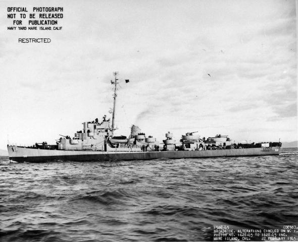 USS Engstrom (DE-50), Feb 27th 1945