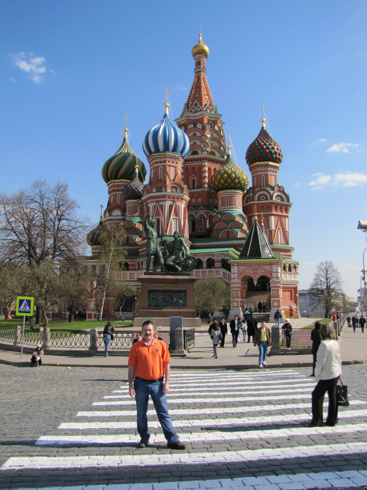 St. Basil's Cathedral on Red Square, Moscow Apr 2010
