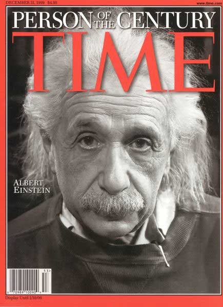 Time Magazine Cover of Albert Einstein