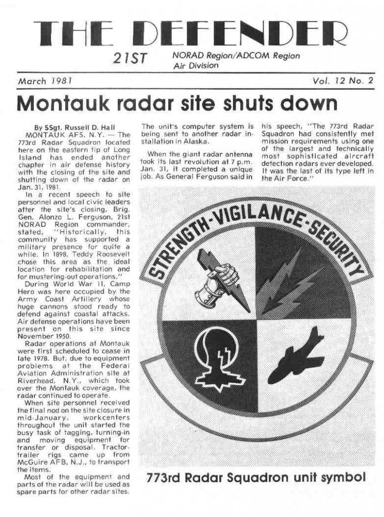Montauk Closing 21stAD Newspaper