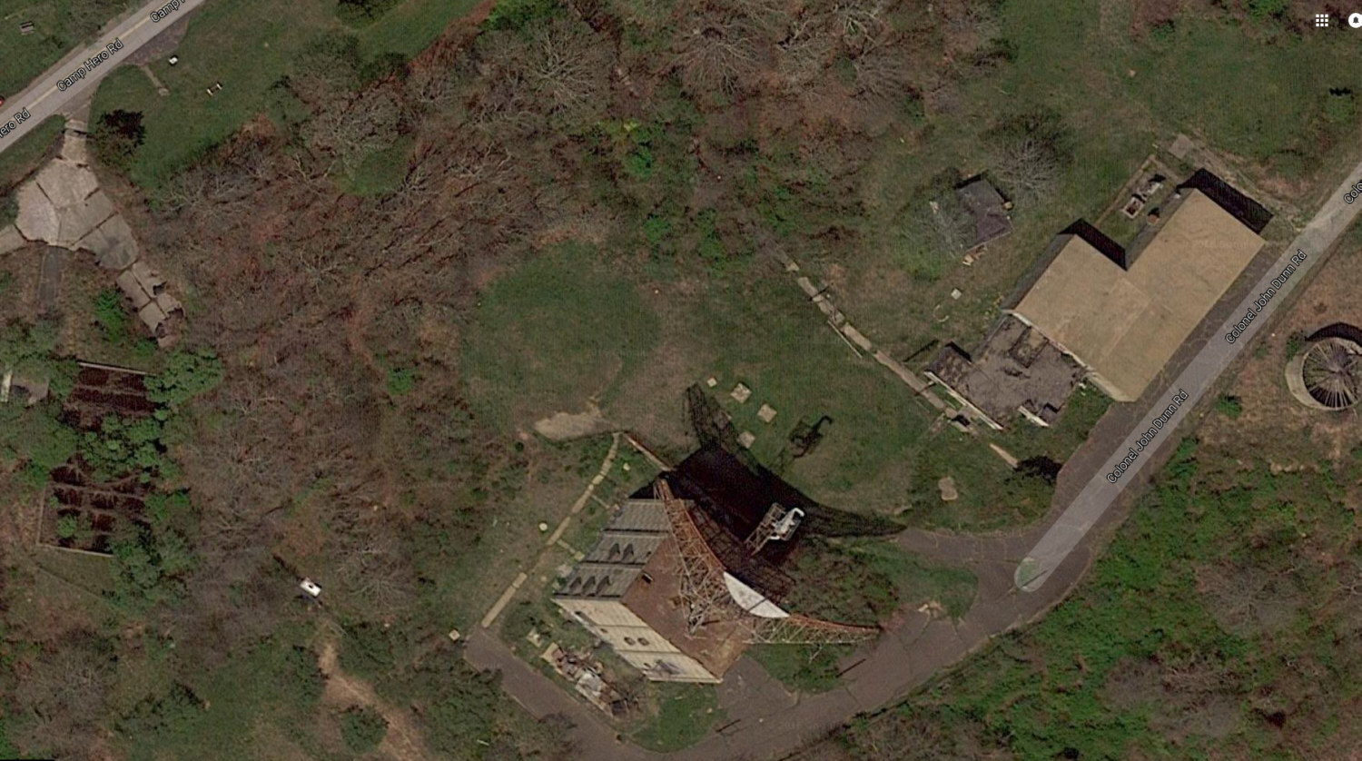 Google Earth View of Montauk