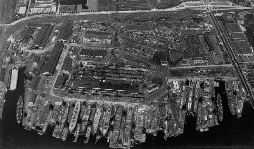 Federal Shipbuilding and Dry Dock Company, Kearny, NJ, 1945, where the Eldridge was built in 1943