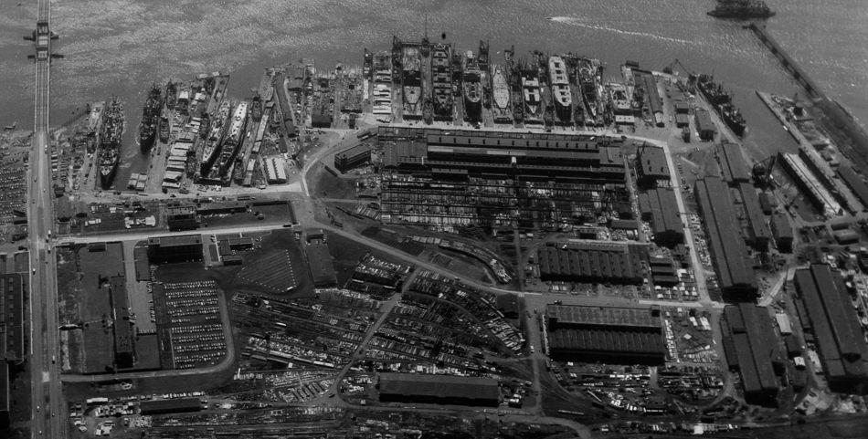 Federal Shipbuilding and Dry Dock Company, Kearny, NJ, 1945
