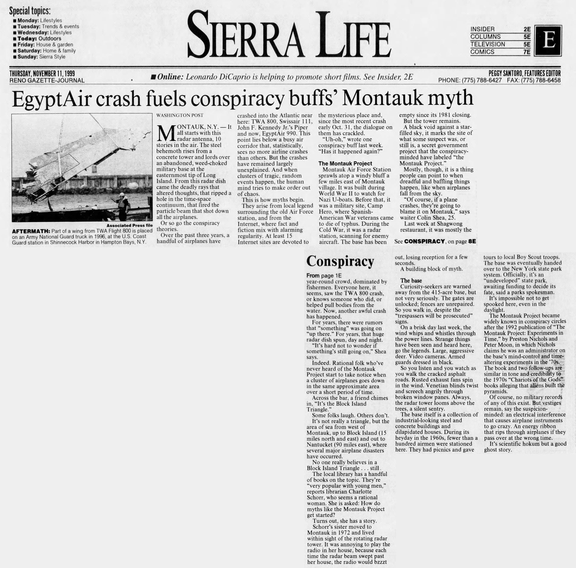 Reno Gazette Journal (Nov,11,1999)